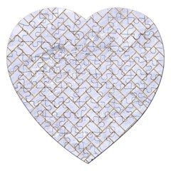 BRICK2 WHITE MARBLE & SAND (R) Jigsaw Puzzle (Heart)