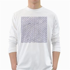 Brick2 White Marble & Sand (r) White Long Sleeve T Shirts by trendistuff