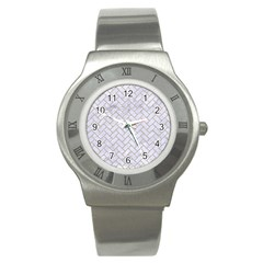 Brick2 White Marble & Sand (r) Stainless Steel Watch by trendistuff