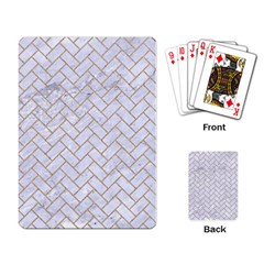 Brick2 White Marble & Sand (r) Playing Card by trendistuff