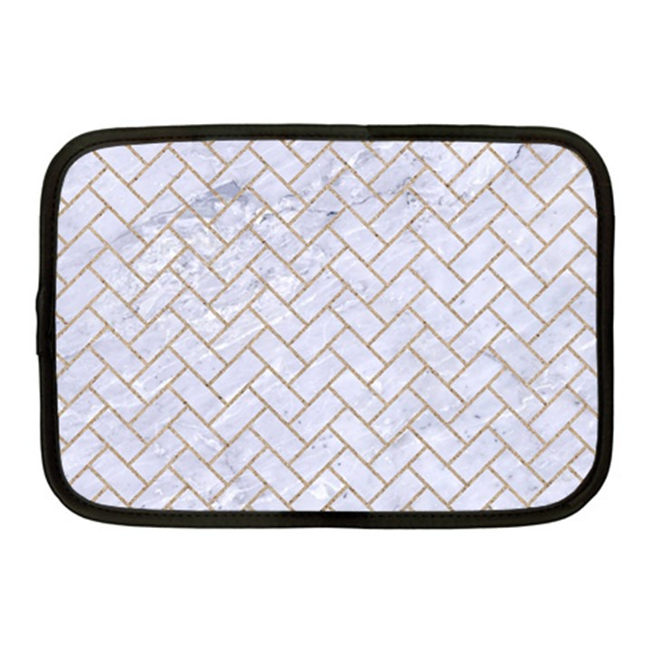 BRICK2 WHITE MARBLE & SAND (R) Netbook Case (Medium)