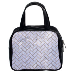BRICK2 WHITE MARBLE & SAND (R) Classic Handbags (2 Sides)