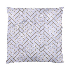 BRICK2 WHITE MARBLE & SAND (R) Standard Cushion Case (One Side)