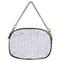 BRICK2 WHITE MARBLE & SAND (R) Chain Purses (Two Sides)