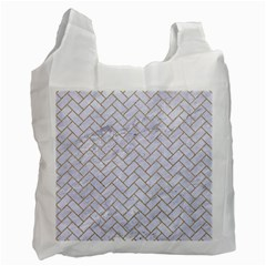BRICK2 WHITE MARBLE & SAND (R) Recycle Bag (Two Side)