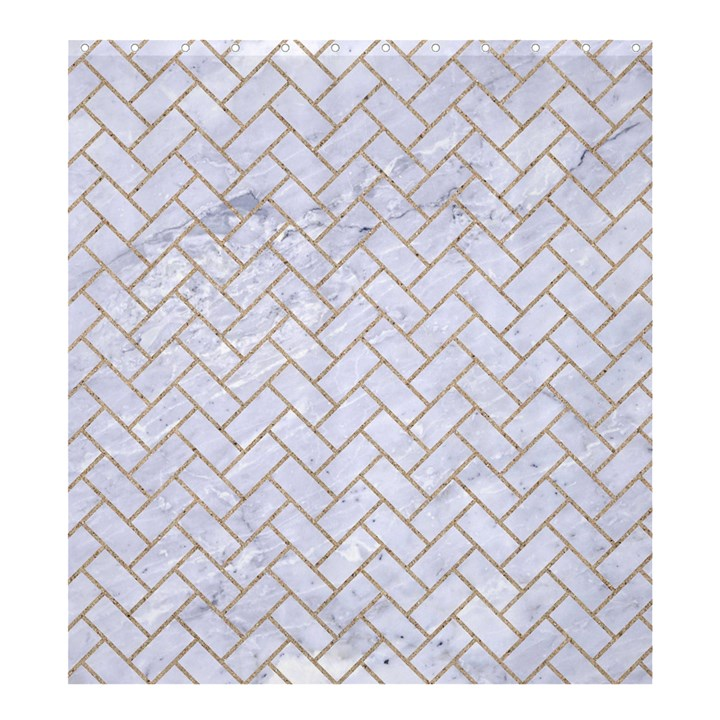 BRICK2 WHITE MARBLE & SAND (R) Shower Curtain 66  x 72  (Large)
