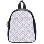 BRICK2 WHITE MARBLE & SAND (R) School Bag (Small) Front