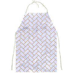 Brick2 White Marble & Sand (r) Full Print Aprons by trendistuff