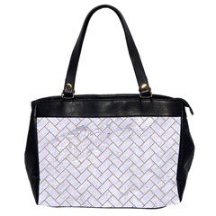 BRICK2 WHITE MARBLE & SAND (R) Office Handbags (2 Sides)