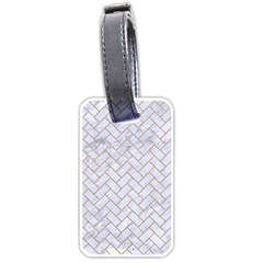 BRICK2 WHITE MARBLE & SAND (R) Luggage Tags (Two Sides)