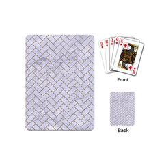 Brick2 White Marble & Sand (r) Playing Cards (mini)