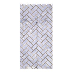 Brick2 White Marble & Sand (r) Shower Curtain 36  X 72  (stall)