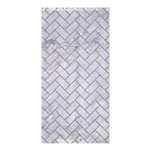 BRICK2 WHITE MARBLE & SAND (R) Shower Curtain 36  x 72  (Stall)  33.26 x66.24 Curtain