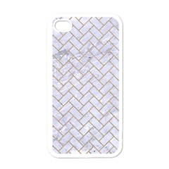 BRICK2 WHITE MARBLE & SAND (R) Apple iPhone 4 Case (White)