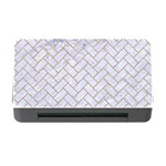 BRICK2 WHITE MARBLE & SAND (R) Memory Card Reader with CF Front