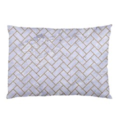 BRICK2 WHITE MARBLE & SAND (R) Pillow Case (Two Sides)
