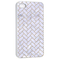 BRICK2 WHITE MARBLE & SAND (R) Apple iPhone 4/4s Seamless Case (White)