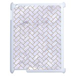 BRICK2 WHITE MARBLE & SAND (R) Apple iPad 2 Case (White) Front