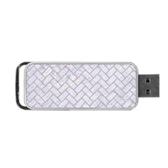 BRICK2 WHITE MARBLE & SAND (R) Portable USB Flash (Two Sides)