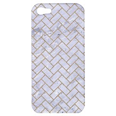 Brick2 White Marble & Sand (r) Apple Iphone 5 Hardshell Case by trendistuff