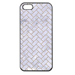 BRICK2 WHITE MARBLE & SAND (R) Apple iPhone 5 Seamless Case (Black)