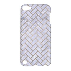 Brick2 White Marble & Sand (r) Apple Ipod Touch 5 Hardshell Case by trendistuff