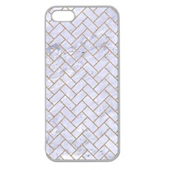 Brick2 White Marble & Sand (r) Apple Seamless Iphone 5 Case (clear) by trendistuff