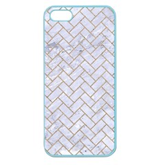 BRICK2 WHITE MARBLE & SAND (R) Apple Seamless iPhone 5 Case (Color)