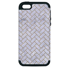 Brick2 White Marble & Sand (r) Apple Iphone 5 Hardshell Case (pc+silicone) by trendistuff