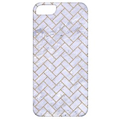 Brick2 White Marble & Sand (r) Apple Iphone 5 Classic Hardshell Case by trendistuff