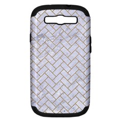 BRICK2 WHITE MARBLE & SAND (R) Samsung Galaxy S III Hardshell Case (PC+Silicone)