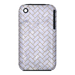 Brick2 White Marble & Sand (r) Iphone 3s/3gs by trendistuff