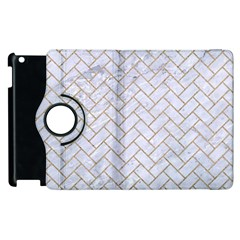Brick2 White Marble & Sand (r) Apple Ipad 2 Flip 360 Case by trendistuff