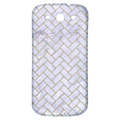 BRICK2 WHITE MARBLE & SAND (R) Samsung Galaxy S3 S III Classic Hardshell Back Case