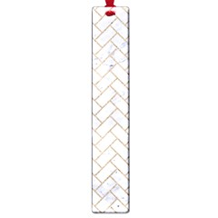 BRICK2 WHITE MARBLE & SAND (R) Large Book Marks