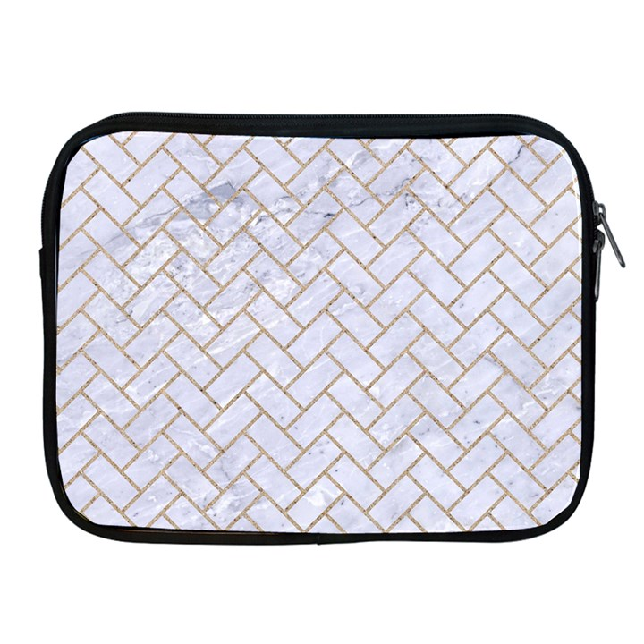 BRICK2 WHITE MARBLE & SAND (R) Apple iPad 2/3/4 Zipper Cases