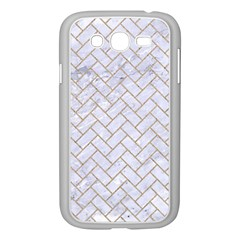 Brick2 White Marble & Sand (r) Samsung Galaxy Grand Duos I9082 Case (white) by trendistuff