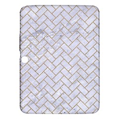 BRICK2 WHITE MARBLE & SAND (R) Samsung Galaxy Tab 3 (10.1 ) P5200 Hardshell Case