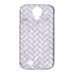 BRICK2 WHITE MARBLE & SAND (R) Samsung Galaxy S4 Classic Hardshell Case (PC+Silicone)