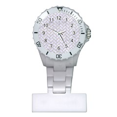 Brick2 White Marble & Sand (r) Plastic Nurses Watch by trendistuff