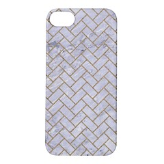 Brick2 White Marble & Sand (r) Apple Iphone 5s/ Se Hardshell Case by trendistuff