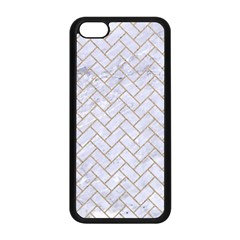Brick2 White Marble & Sand (r) Apple Iphone 5c Seamless Case (black) by trendistuff