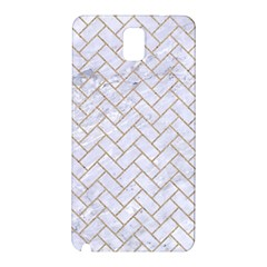 BRICK2 WHITE MARBLE & SAND (R) Samsung Galaxy Note 3 N9005 Hardshell Back Case