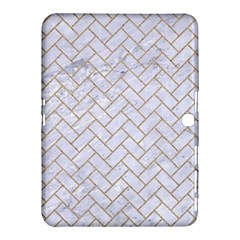 Brick2 White Marble & Sand (r) Samsung Galaxy Tab 4 (10 1 ) Hardshell Case