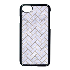 Brick2 White Marble & Sand (r) Apple Iphone 7 Seamless Case (black) by trendistuff