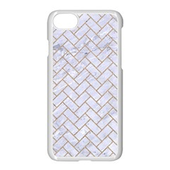 BRICK2 WHITE MARBLE & SAND (R) Apple iPhone 8 Seamless Case (White)