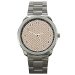 BRICK2 WHITE MARBLE & SAND Sport Metal Watch Front