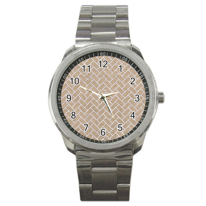 BRICK2 WHITE MARBLE & SAND Sport Metal Watch