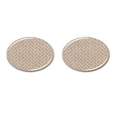 Brick2 White Marble & Sand Cufflinks (oval) by trendistuff