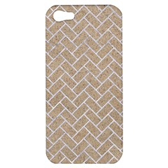 Brick2 White Marble & Sand Apple Iphone 5 Hardshell Case by trendistuff